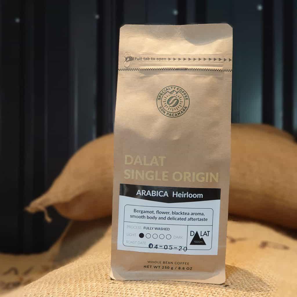 Gói cà phê Heirloom